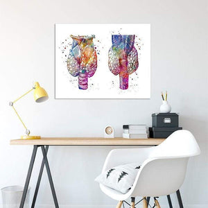 Thyroid Gland Watercolor Print - PrintsFinds