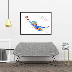 Volleyball art print - PrintsFinds