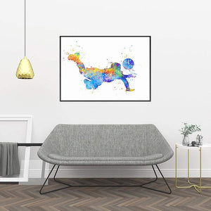 Volleyball Art Watercolor Print - PrintsFinds
