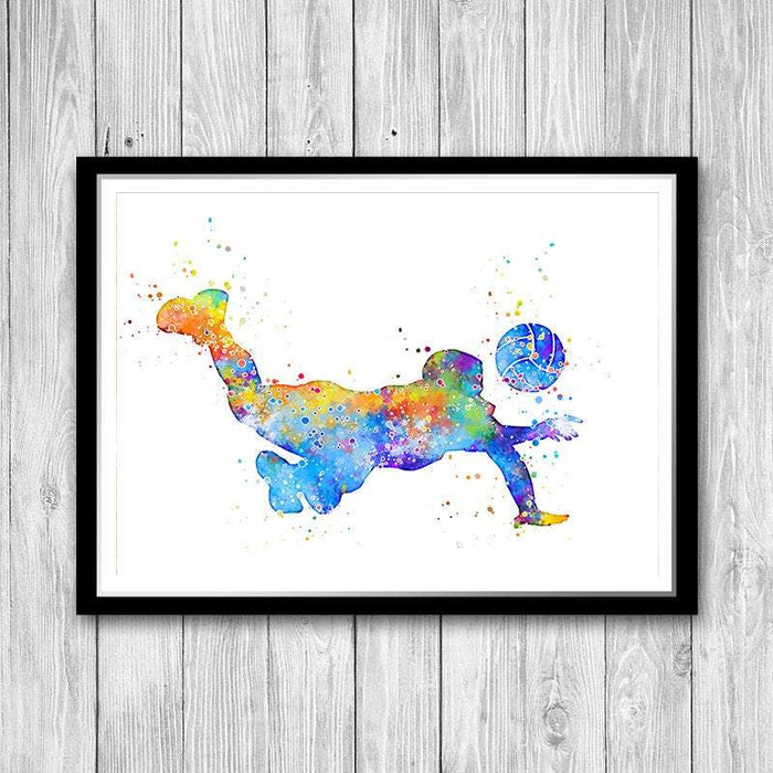 Volleyball Art Watercolor Print