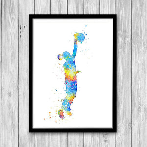 Volleyball Watercolor Print - PrintsFinds