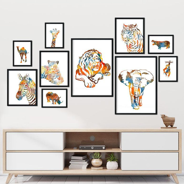 Watercolor Animals Posters set of 10
