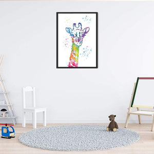 Watercolor Art Print Giraffe Poster for nursery decor - PrintsFinds