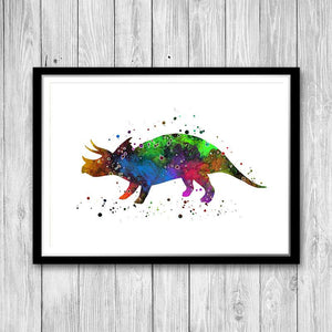 Watercolor Dinosaur Art Print - PrintsFinds