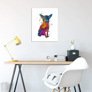 Watercolor Dog Chihuahua Art Print - PrintsFinds
