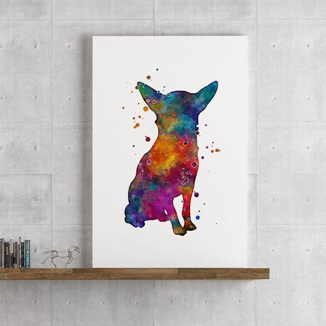 Watercolor Dog Chihuahua Art Print