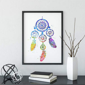 Watercolor Dreamcatcher Poster - PrintsFinds