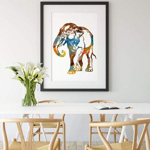 Watercolor Elephant Poster - PrintsFinds