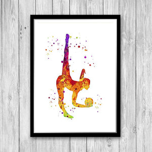Watercolor Rhythmic Gymnastics - PrintsFinds
