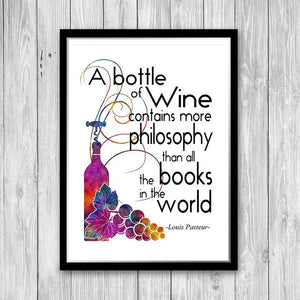 Wine art kitchen decor, Quote Wall Art for Kitchen - PrintsFinds