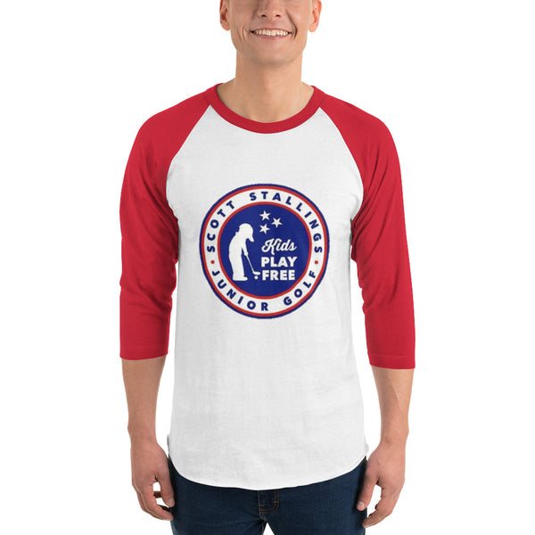 3/4 Sleeve Unisex Kids Play Free Shirt