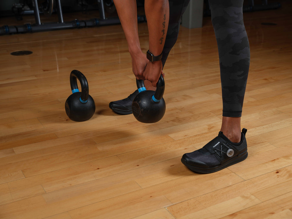 Working out with Shimano IC300 Indoor cycling shoes