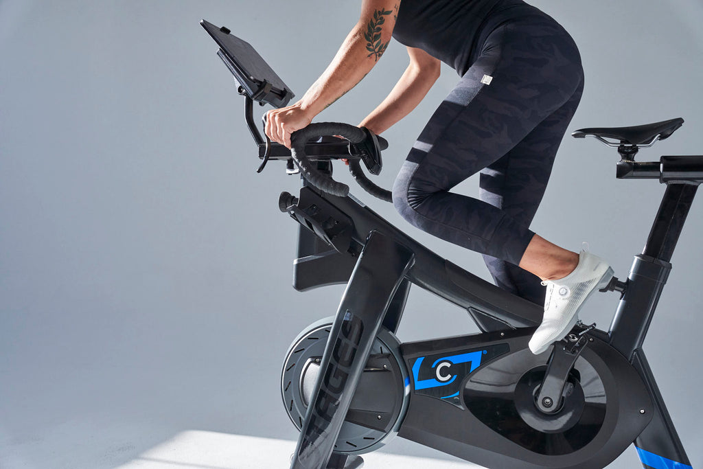 Spin workout on a Stages Indoor Cycling bike with Shimano IC500 shoes