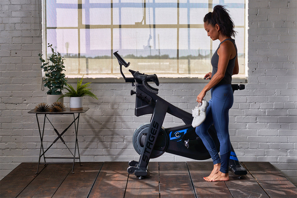Indoor Cycling on a stationary bike