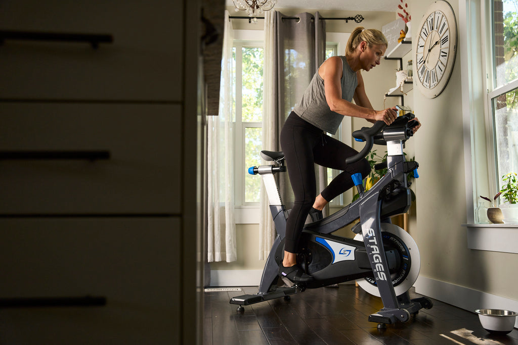 Indoor Cycling at home with Shimano IC200 spin shoes