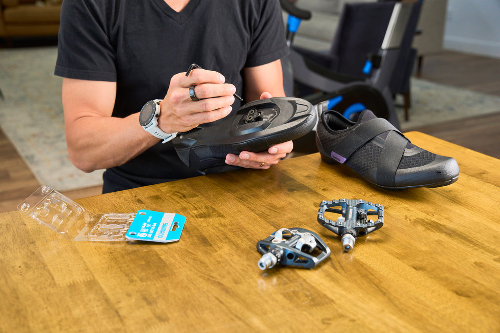 Installing Shimano SPD cleats on Shimano IC200 Indoor Cycling Shoes