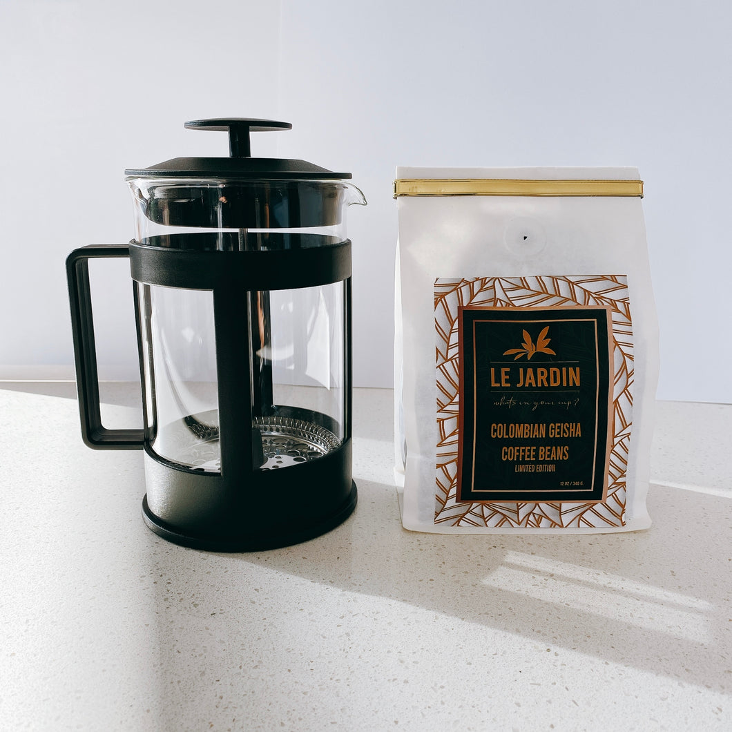 French Press + Coffee Kit