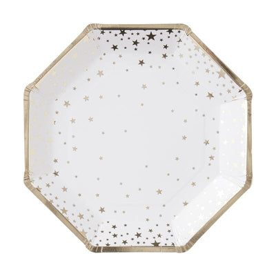 gold foil star plates