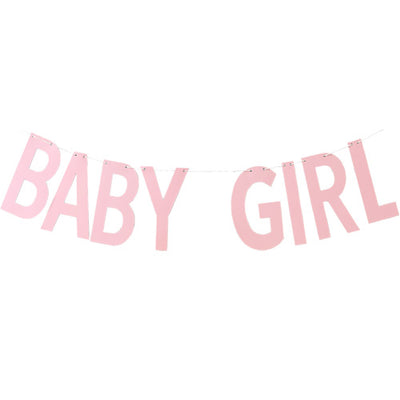 Baby Girl Pink Baby Shower Banner