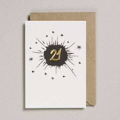 Embroidered Black Birthday Card 21