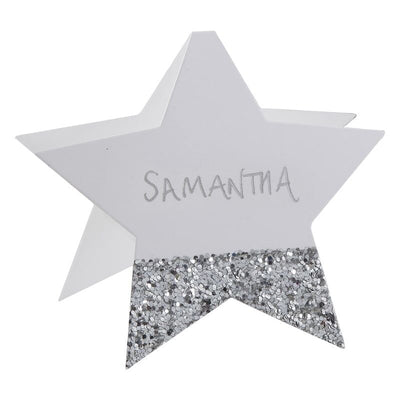 silver star place cards