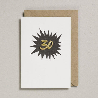 Embroidered Black Birthday Card 30
