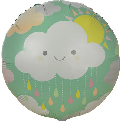 Sunshine and clouds foil balloon for baby shower