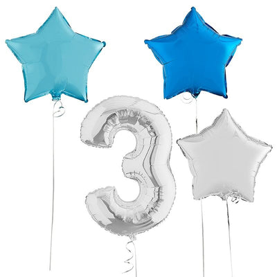 inflated number balloons bundle