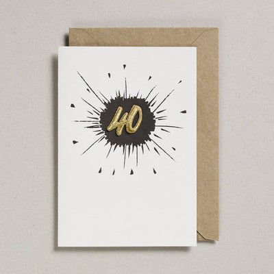Embroidered Black Birthday Card 40