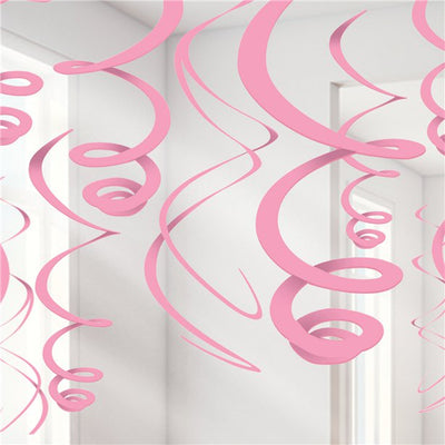 Pink Swirl Decorations