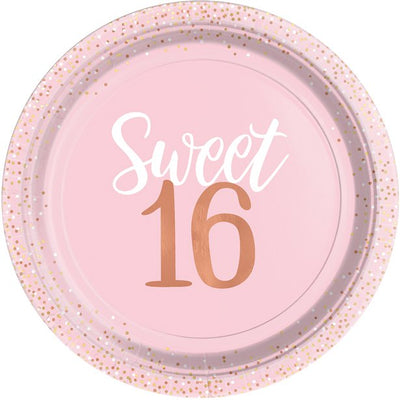 Sweet 16 Party Plates