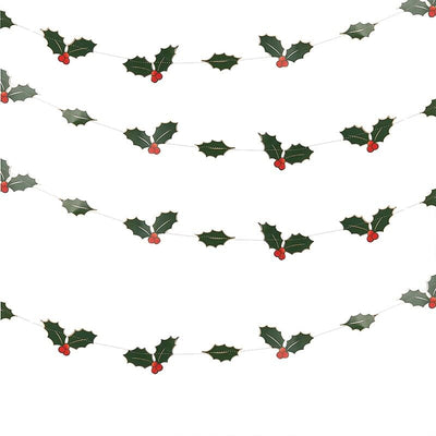 Holly Leaves Garland By Ginger Ray