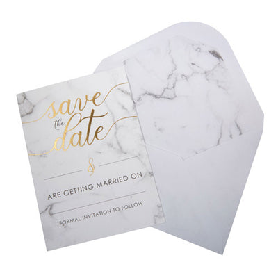 Save The Date Marble cards and Envelopes
