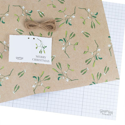 Ginger Ray Mistletoe wrapping paper