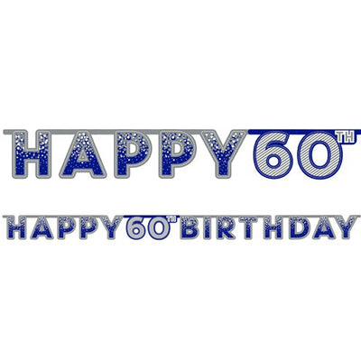 Blue 60th Birthday Banner