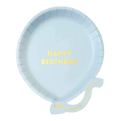 Pastel Blue Balloon Paper Plates