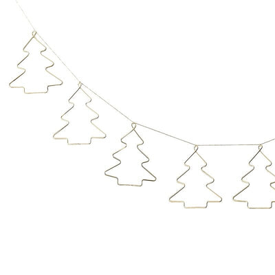 gold Christmas tree bunting