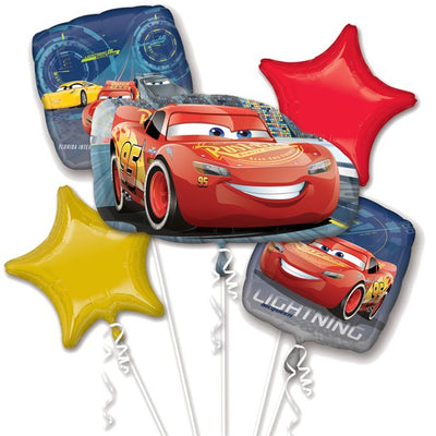 Cars Lightening Mcqueen foil balloon bouquet
