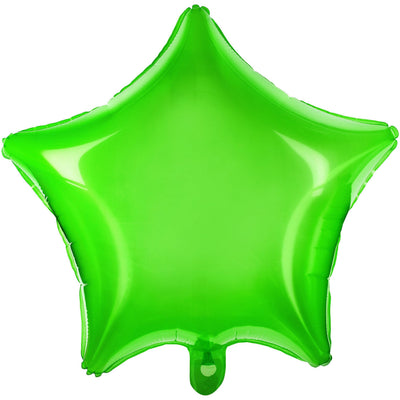 Neon Green Star Balloons