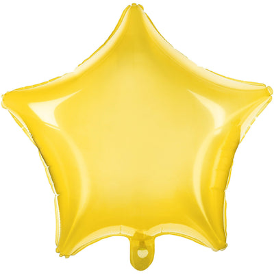 Neon Yellow Star Foil Balloons
