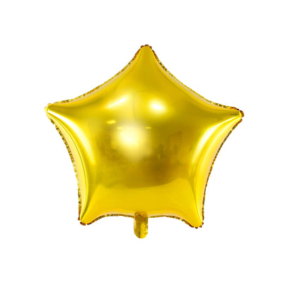 Large Gold Star Foil Balloon Party Deco