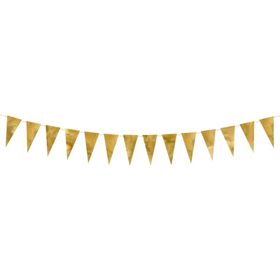 Gold party Flag Bunting