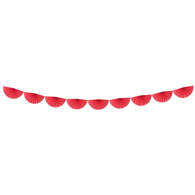 Red paper Fan Garland Party Deco