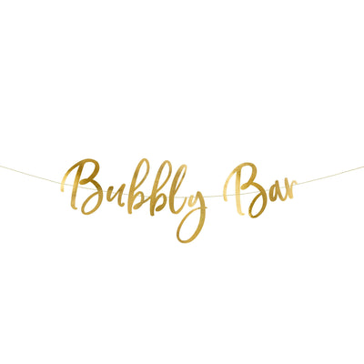 Gold Bubbly Bar Bunting