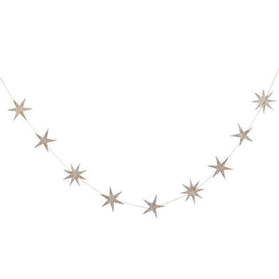 Gold Star Wooden Garland