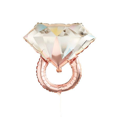 Rose Gold Diamond Ring Balloon