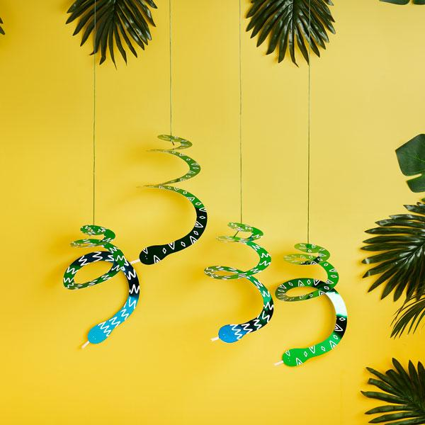 Swirly Snake Decorations (Pk4)