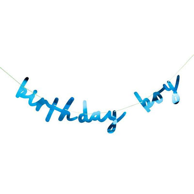 Birthday Boy Blue Banner