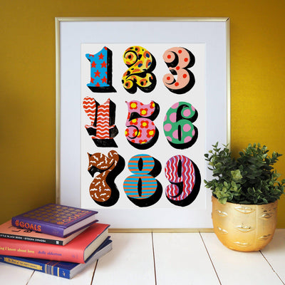 Eleanor Bowmer Numbers Print