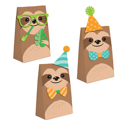 Sloth Party Paper Treat Bags